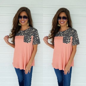 Cutie In Coral Animal Accent Top
