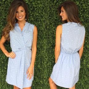 Spots & Dots Light Blue Dress