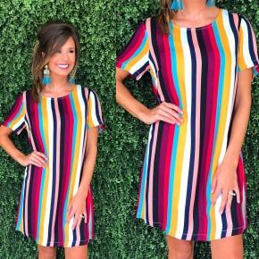 Feeling Funky Striped Dress