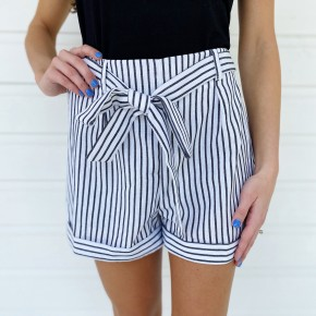 Waiting For You Striped Shorts