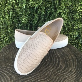 Snake Slip On Sneakers- Taupe