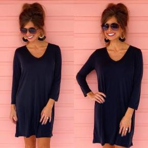Black Lounge Around T-Shirt Dress