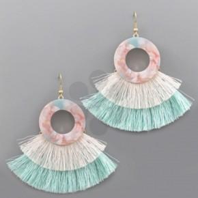 Cotton Candy Fringe Earrings