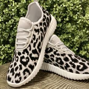 Remi Leopard Sneakers- Silver