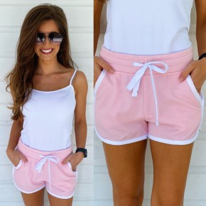Candy Pink Casual Shorts