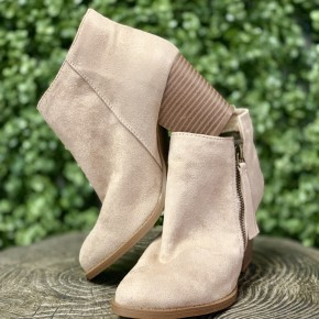 Bella Taupe Suede Booties
