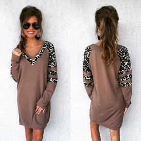 Get Wild Leopard Dress-Mocha