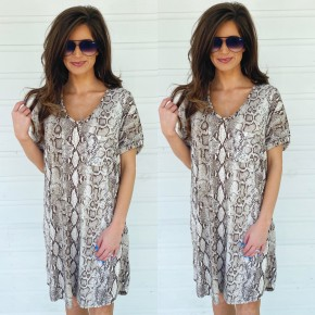 Show Me How Snake Print Dress