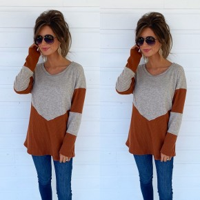 Rust & Oatmeal Two Tone Sweater