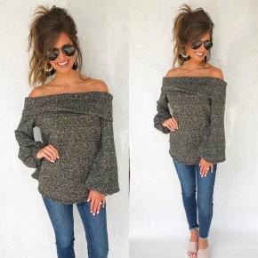 Make You Miss Me Off Shoulder Sweater