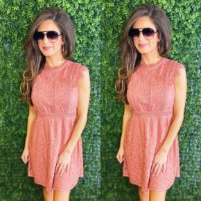 Marsala Lace Dress