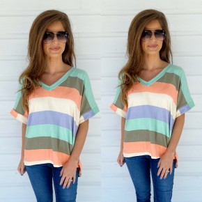 Living For Fun Striped Top