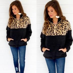Finally Fall Fleece Pullover Top- Black
