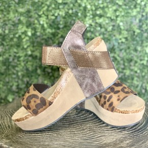 Gold Coast Leopard Wedges