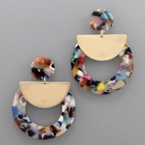 Funfetti Frenzy Acrylic Earrings