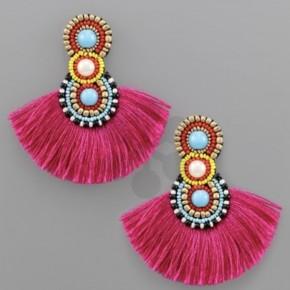 Party Time Earrings- Fuchsia