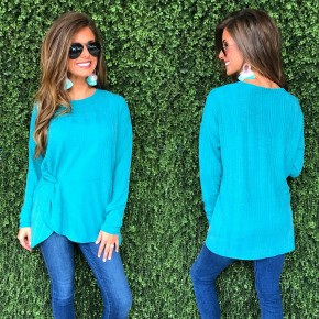 Just About Jade Long Sleeve Top