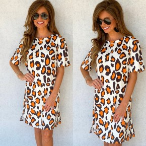 Follow My Lead Animal Print Dress