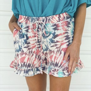 Pretty Printed Ruffle Shorts