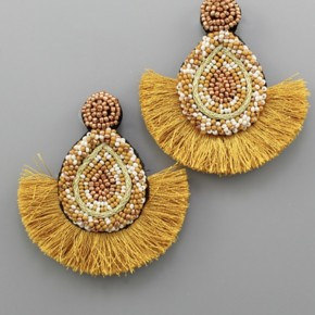 Golden Seed Bead Earrings