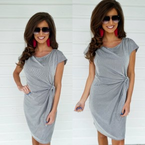 Carried Away Striped Dress- Black *Final Sale*