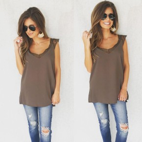Lace Cami Top- Olive