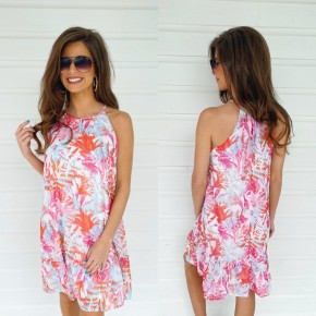 Living In Paradise Printed Dress