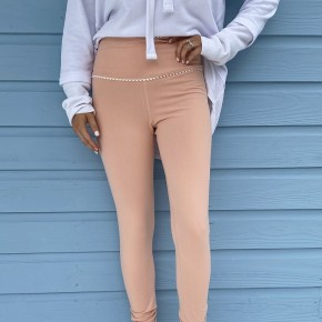 Peach Pom Pom Leggings