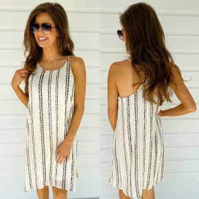 When We're Together Cream Dress