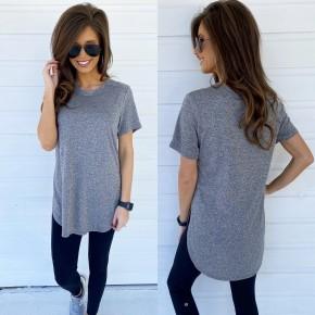 Lucy Short Sleeve Top- Grey