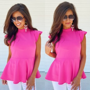 My Way Only Mock Neck Top- Pink