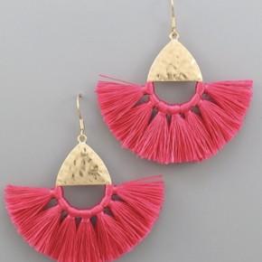 Bailey Fuchsia Tassel Earrings
