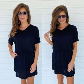 On The Go Black Dress