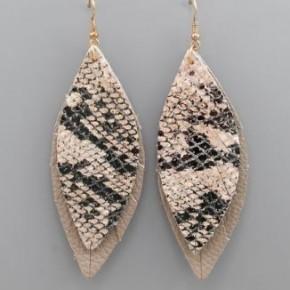 Layered Snake Earrings