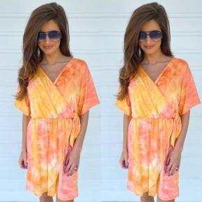 Colors Of The Rainbow Dress- Orange