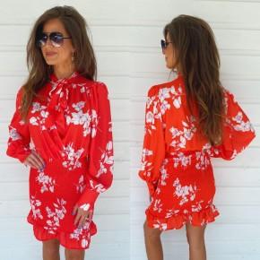 Romance Red Floral Dress