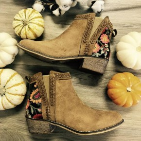 Never Walk Alone Embroidered Booties