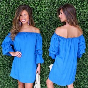 Bentleigh Blue Off Shoulder Dress