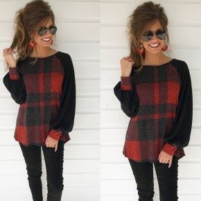 Feeling The Love Plaid Top
