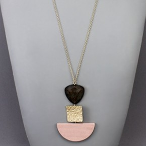 Geometric Necklace- Pink