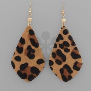 Leopard Cowhide Earrings
