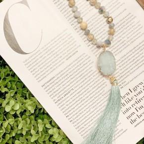 Mint Druzy Stone Necklace