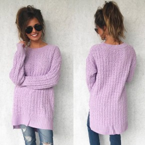 Poppy Popcorn Sweater- Lavender