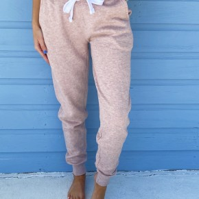 Stay At Home Joggers- Pink