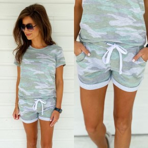 Cute & Casual Shorts- Olive Camo