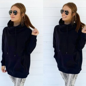 Black Cowl Neck Pullover