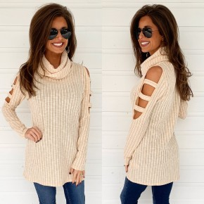 Cream Cowl Neck Top