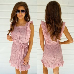 Blushing Babe Lace Dress