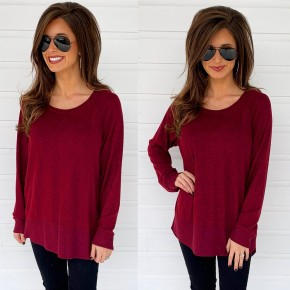 Pullover Sweater- Burgundy