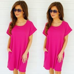 Rachel Ribbed Dress - Berry